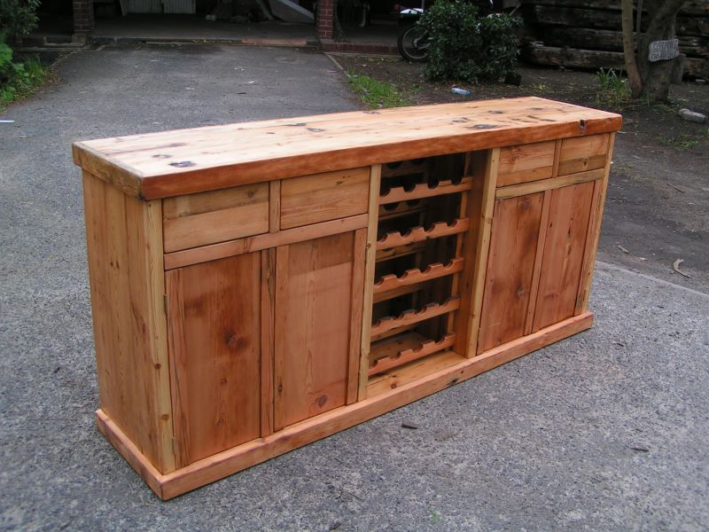 Oregon Pine With Wine Rack Forest Creations