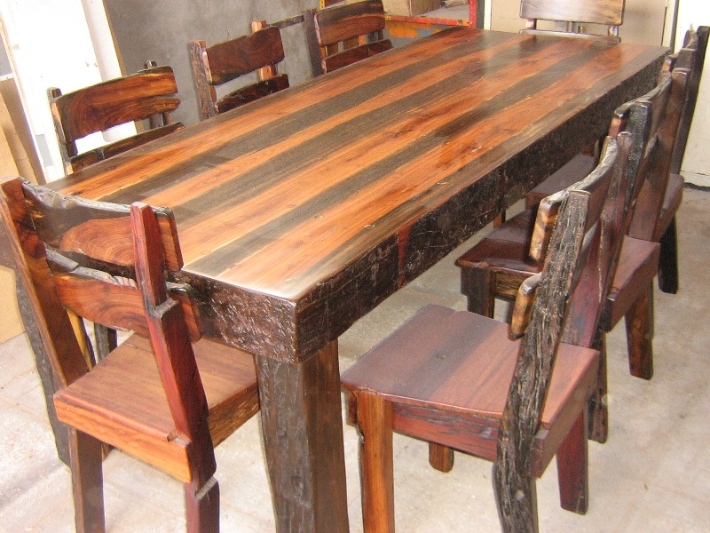 Sleeper Table with Rough Trim JPG. Dining Tables   Forest Creations