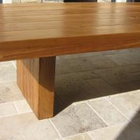 Solid White Gum Table with Block Legs.JPG