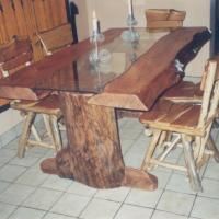 Stained Pine Rustic Table with Glass.jpg
